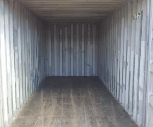 inside a shipping container